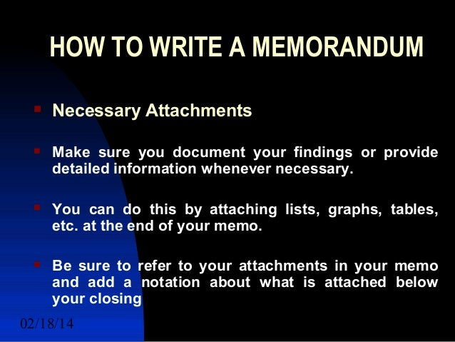 Examples of How to Write a Memo to Employees, Chron com