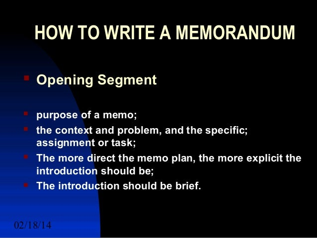 How to Write a Report in a Memo or Letter Format