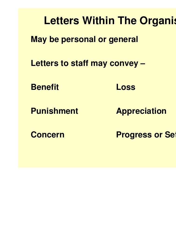 Letters ...  Inter Office Communication Letter