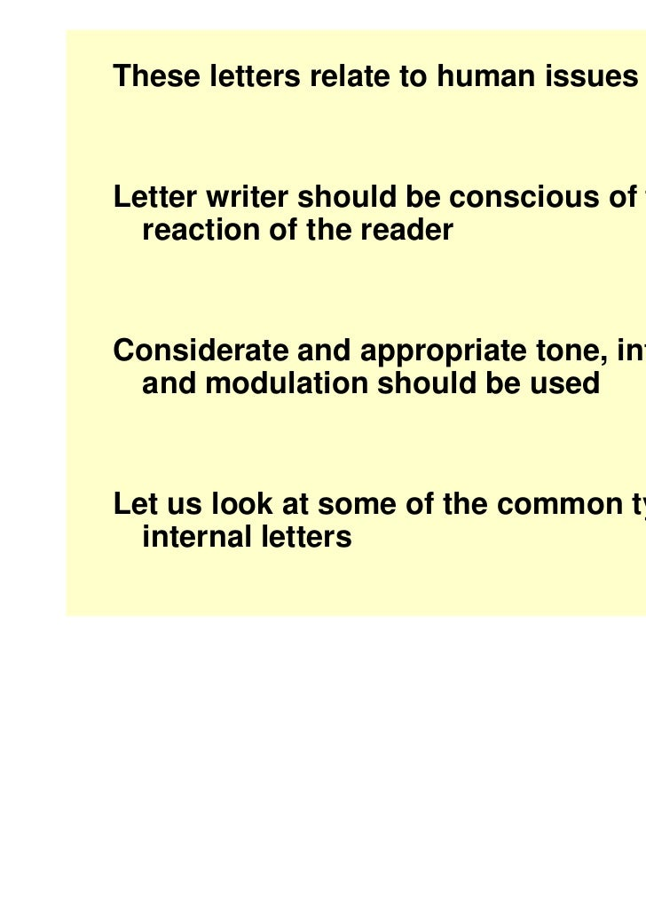 ... ApprehensionDisillusionmentor Disappointment Etc; 8. These Letters ...  Inter Office Communication Letter