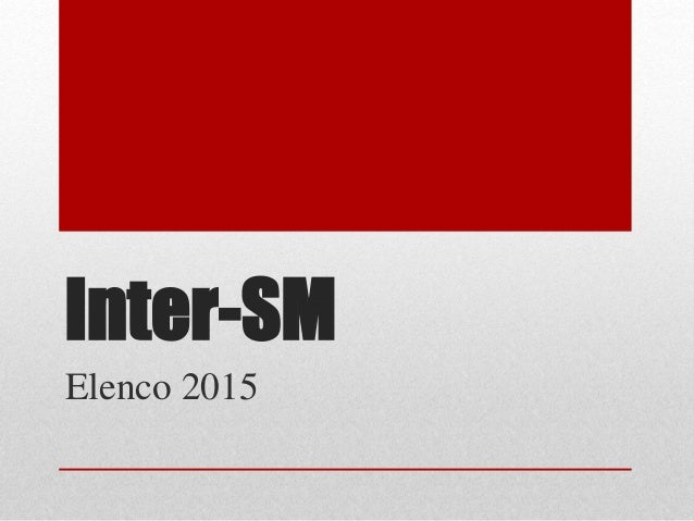 Inter-SM Elenco 2015