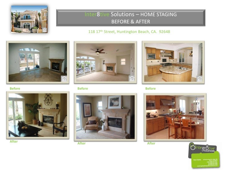 Inter8tive Solutions – HOME STAGING                               BEFORE & AFTER                   118 17th Street, Huntin...