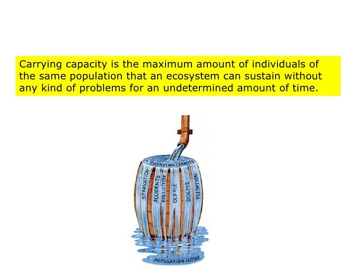 Carrying capacity is the maximum amount of individuals of the same population that an ecosystem can sustain without any ki...