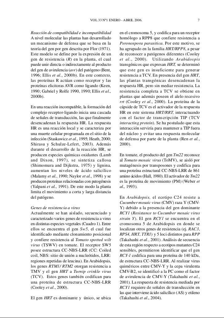 Interaccion planta virus durante el proceso infectivo for Incompatibilidad en plantas