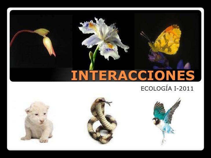 INTERACCIONES<br />ECOLOGÍA I-2011<br />