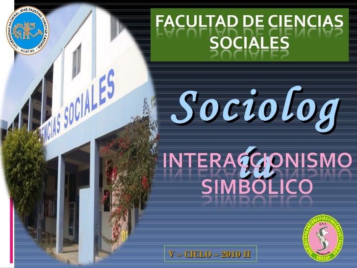Sociología V – CICLO – 2010 II