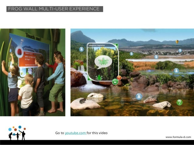 Multi-user touch wall FROG WALL MULTI-USER EXPERIENCE Go to youtube.com for this video