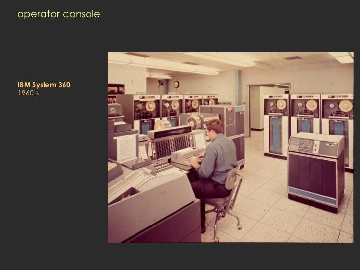 operator console IBM System 360 1960's