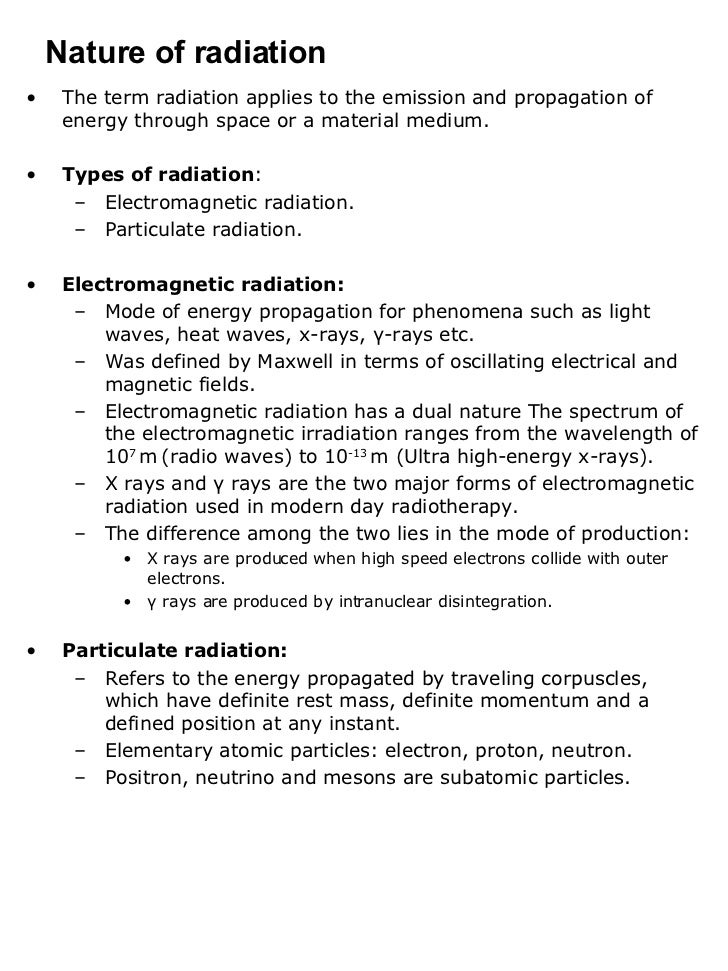 Interaction of Radiation with Matter Slide 2