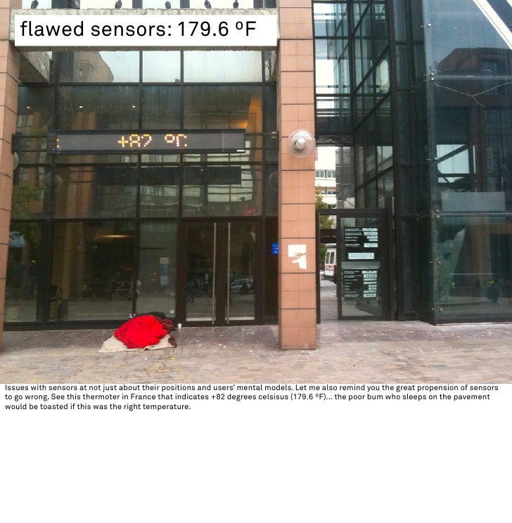 flawed sensors: 179.6 ºF     Issues with sensors at not just about their positions and users' mental models. Let me also r...