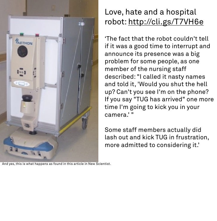Love, hate and a hospital                                                                    robot: http://cli.gs/T7VH6e  ...