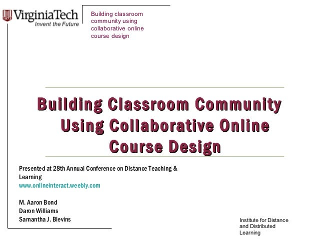 Building classroom                          community using                          collaborative online                 ...