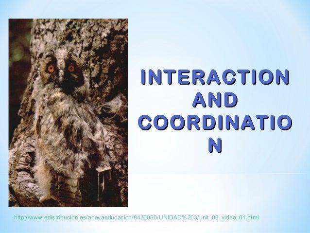 INTERACTIONINTERACTION ANDAND COORDINATIOCOORDINATIO NN http://www.edistribucion.es/anayaeducacion/8430050/UNIDAD%203/unit...