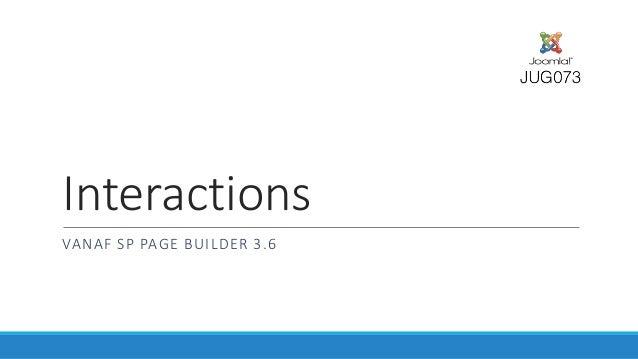 Interactions VANAF SP PAGE BUILDER 3.6