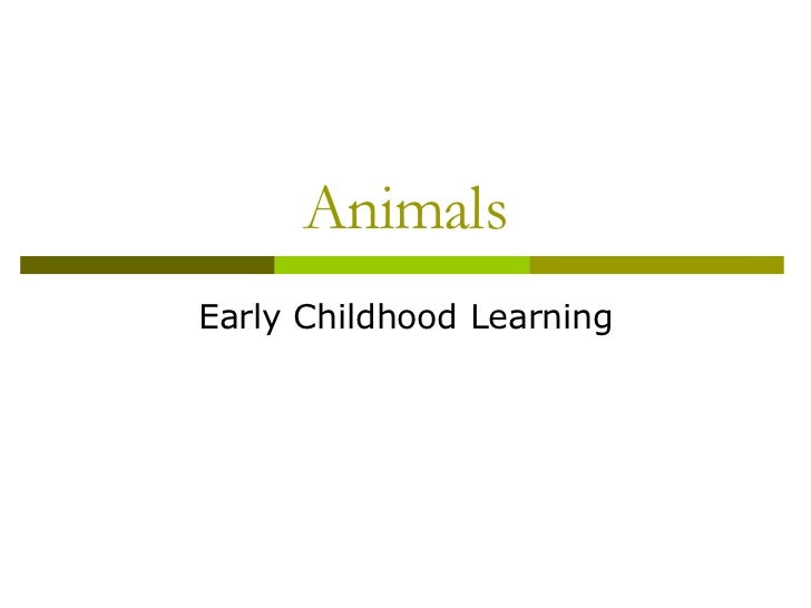 Animals Early Childhood Learning