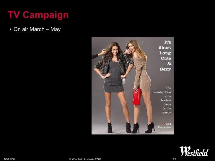 TV Campaign <ul><li>On air March – May </li></ul>