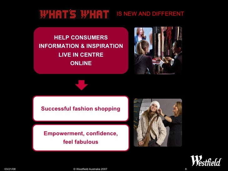 Successful fashion shopping Empowerment, confidence, feel fabulous HELP CONSUMERS INFORMATION & INSPIRATION LIVE IN CENTRE...