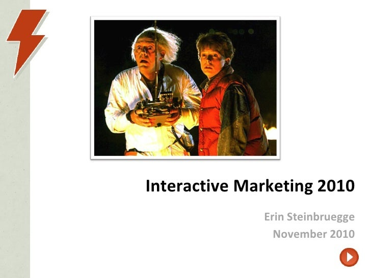 Interactive Marketing 2010 Erin Steinbruegge November 2010