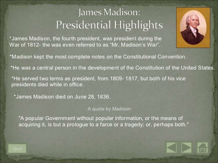 The First Five Presidents of the United States - SlideShare