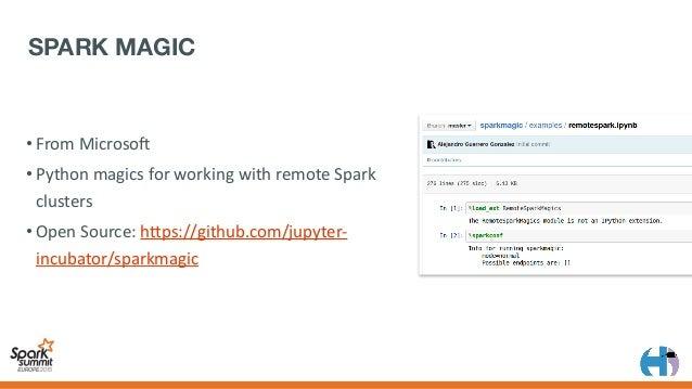 • OpenSource:hAps://github.com/cloudera/ hue/tree/master/apps/spark/java • Readaboutit:hAp://gethue.com/spark/ •Scal...