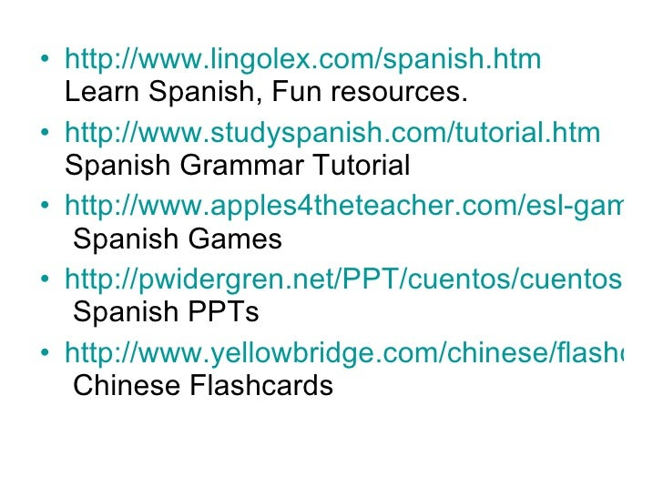 Interactive Websites For The World Language Teacher