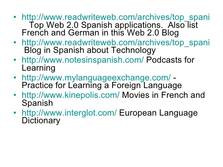 Interactive Websites For The World Language Teacher - World top language list