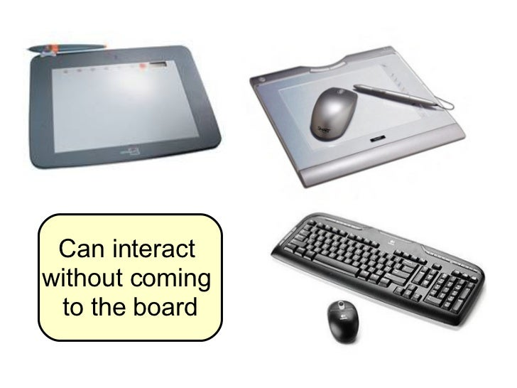 Can interact  without coming  to the board