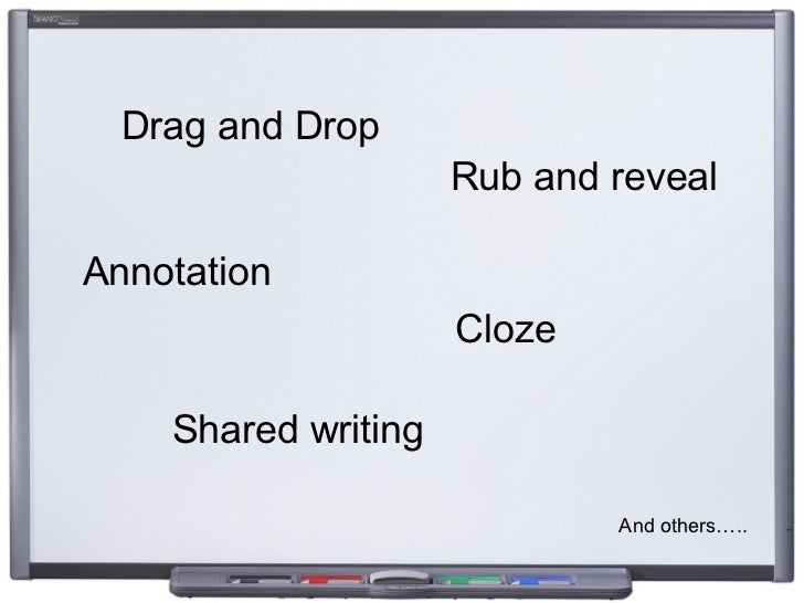 Drag and Drop Cloze Rub and reveal Shared writing Annotation And others…..