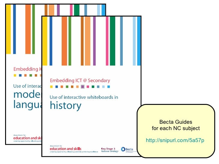 Becta Guides for each NC subject http://snipurl.com/5a57p