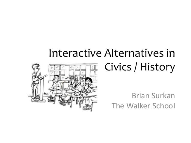 Interactive Alternatives in Civics / History Brian Surkan The Walker School