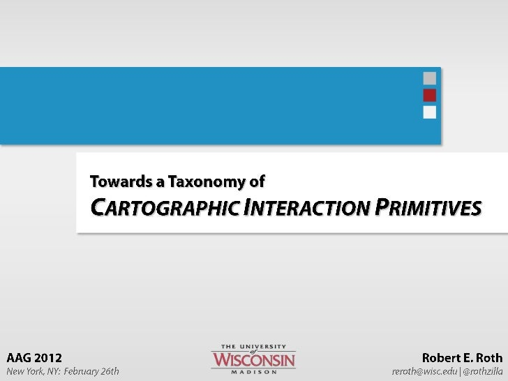 Towards a Taxonomy of Cartographic Interaction Primitives