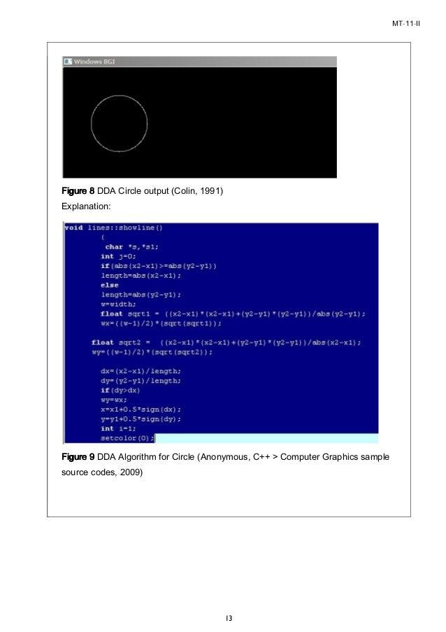 Dda Line Drawing Algorithm Source Code C : M tech interactive computer graphics assignment ii