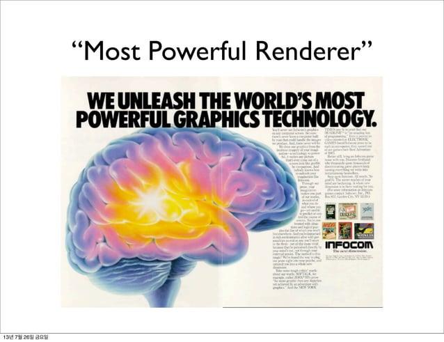 """Most Powerful Renderer"" 13년 7월 26일 금요일"