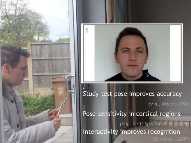Study-test pose improves accuracy (e.g., Bruce, 1982) Pose-sensitivity in cortical regions (e.g., Grill-Spector et al., 19...