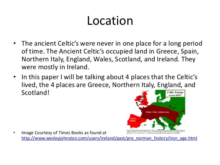 Ancient Celts Interactive Map on