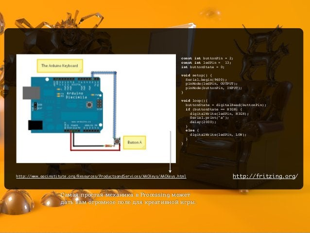 const int buttonPin = 2; const int ledPin = 13; int buttonState = 0;  void setup() { Serial.begin(9600); pinMode(ledPin, ...