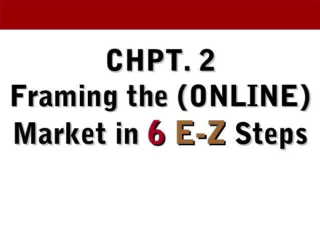 CHPT. 2CHPT. 2 Framing the (ONLINE)Framing the (ONLINE) Market inMarket in 66 E-ZE-Z StepsSteps