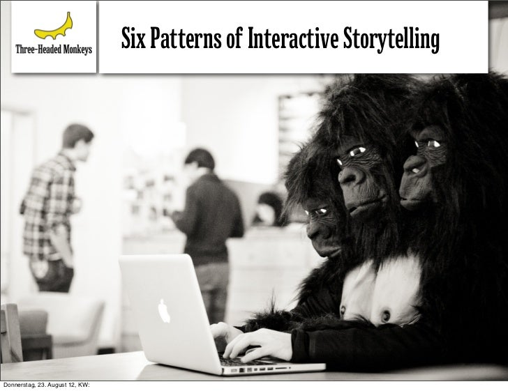 Six Patterns of Interactive StorytellingDonnerstag, 23. August 12, KW:
