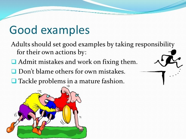 learning the responsibilities of a kid and an adult Chores and responsibility are an important part of learning that life are assuming an appropriate level of responsibility children.