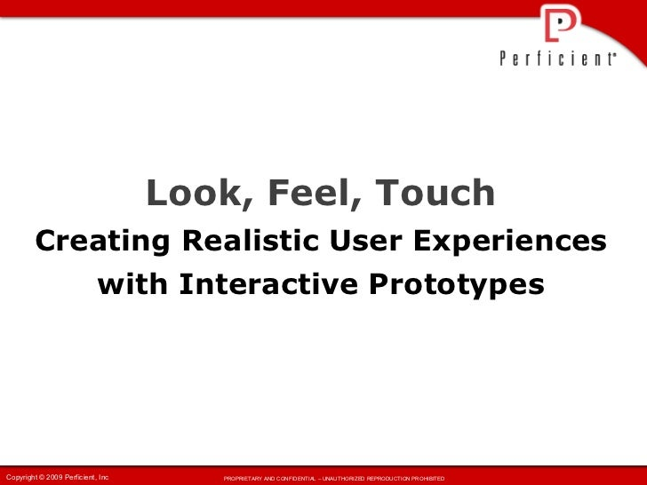Creating Realistic User Experiences with Interactive Prototypes