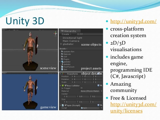 Visualization and Interactive Prototyping with Unity3D