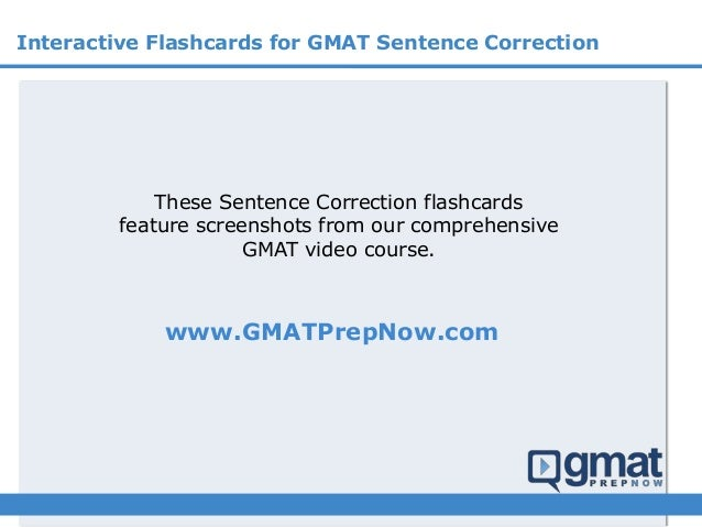 Interactive Sentence Correction Flashcards - by GMAT Prep Now