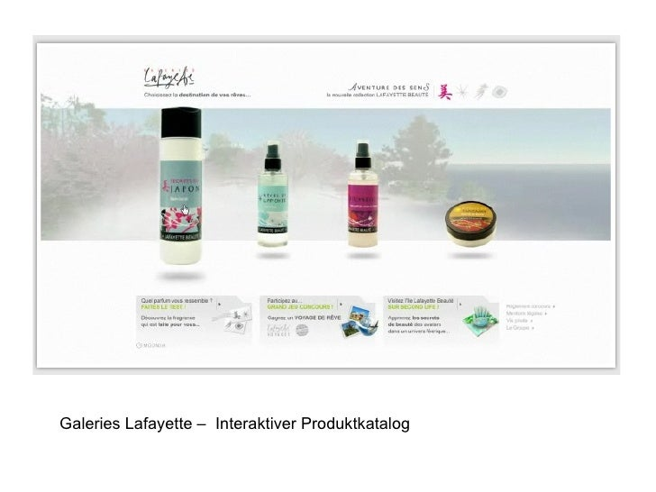 Galeries Lafayette –  Interaktiver Produktkatalog