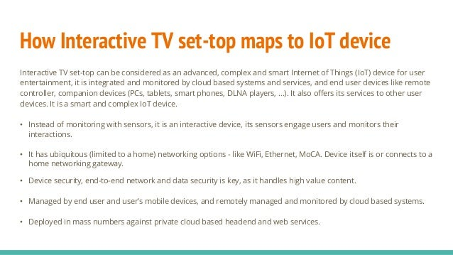 How Interactive TV system overlays on IoT and Cloud