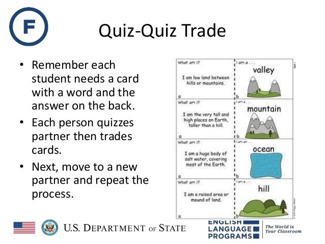 Sample Cards for Various Subjects