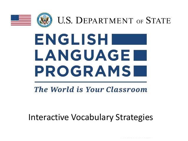 Interactive Vocabulary Strategies