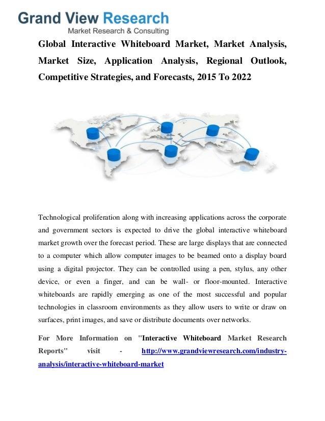 The Interactive Whiteboard Market: Global Analysis, 2027