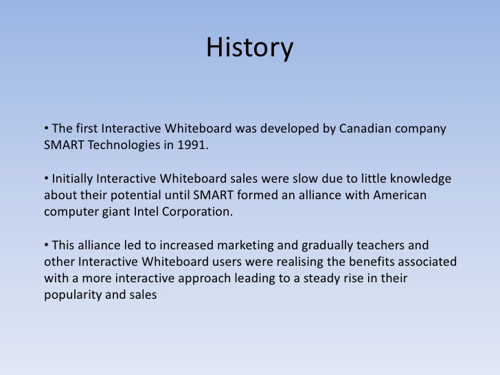 interactive whiteboards presentation