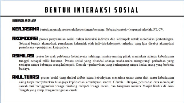 Interaksi Sosial Kelembagaan Sosial
