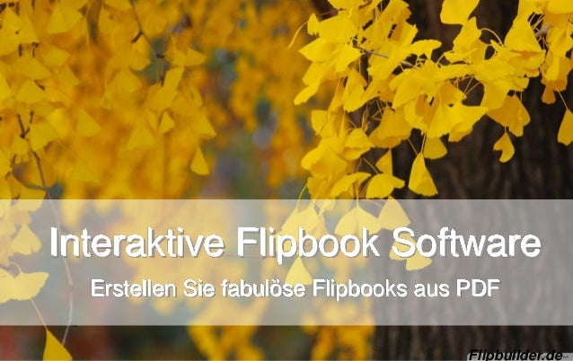 Interaktive Flipbook Software Erstellen Sie fabulöse Flipbooks aus PDF Flipbuilder.de